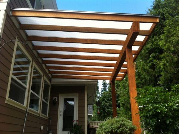 Cover Backyard Pergola With Glazing Sheets Pergola Patio
