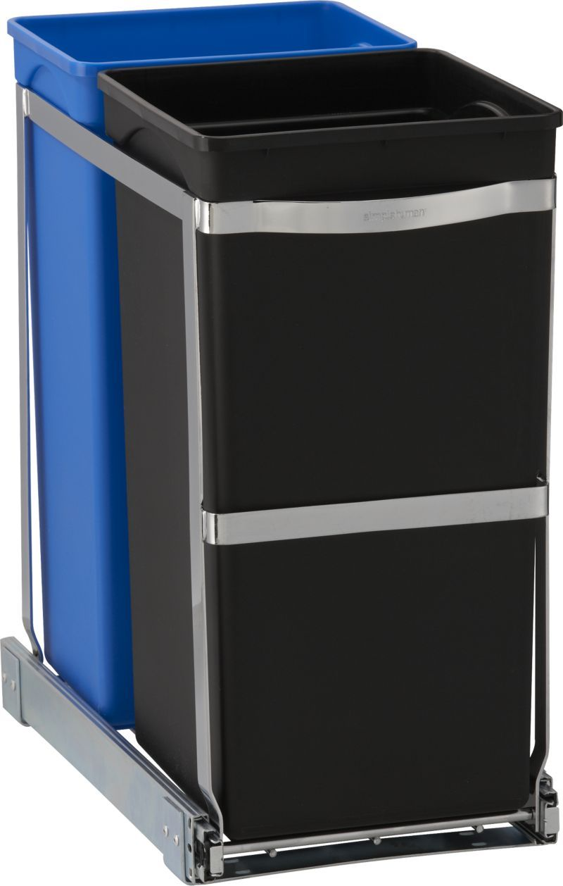 Simplehuman Pull Out Recycler In Trash Cans Crate And Barrel