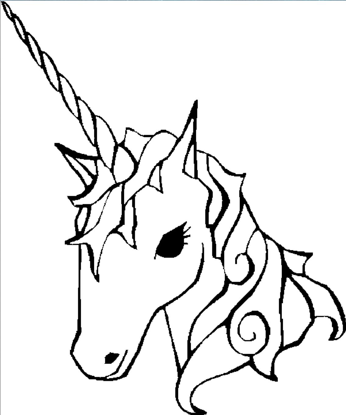 Unicorncoloringpage unicorns pinterest coloring an and girls