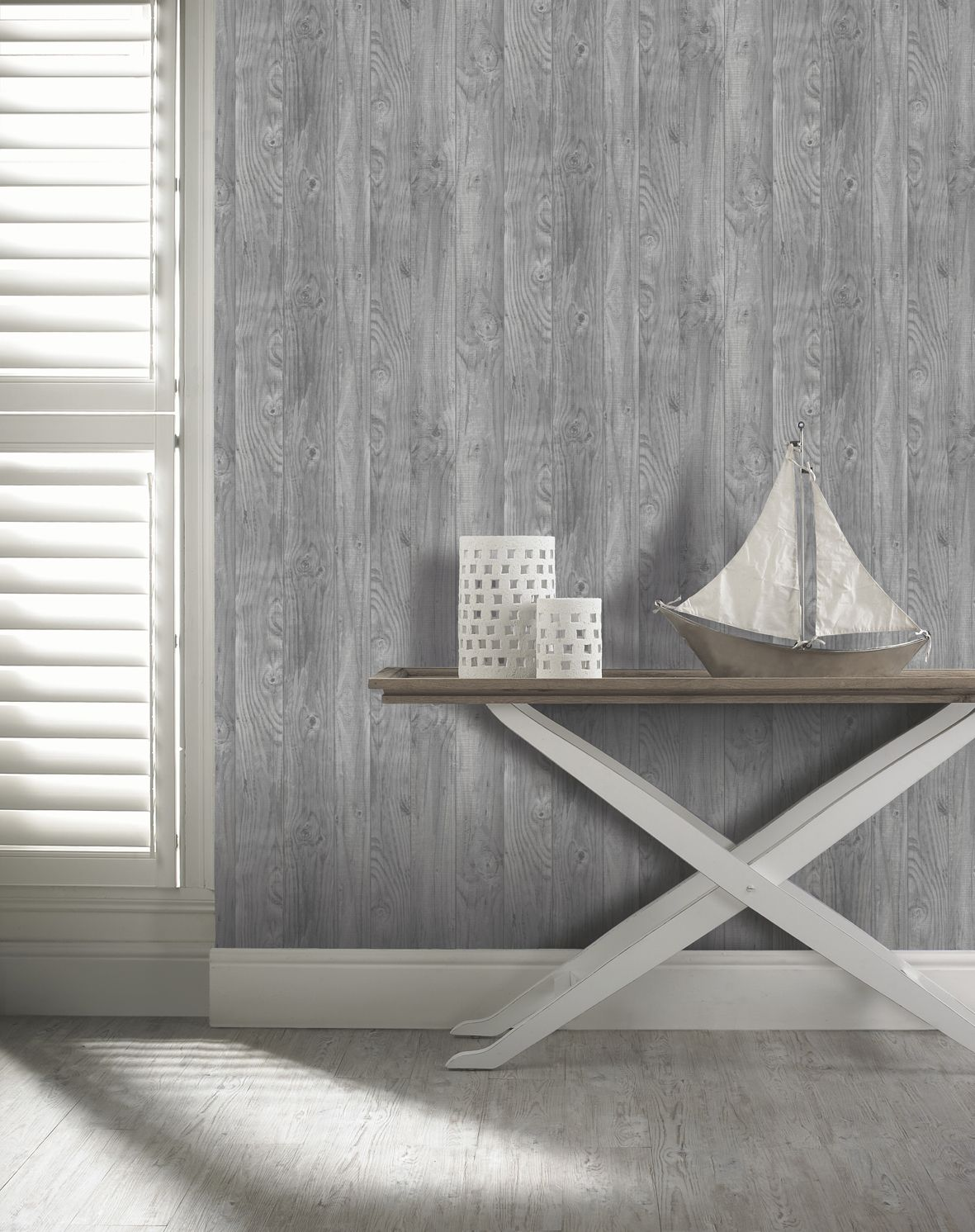 A Stunning Realistic Wood Panel Effect Wallpaper By Arthouse