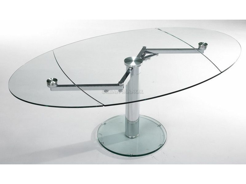 Intrepid Extensible Dining Table: The Industrial Feel Of The Intrepid Expandable  Glass Dining Table And
