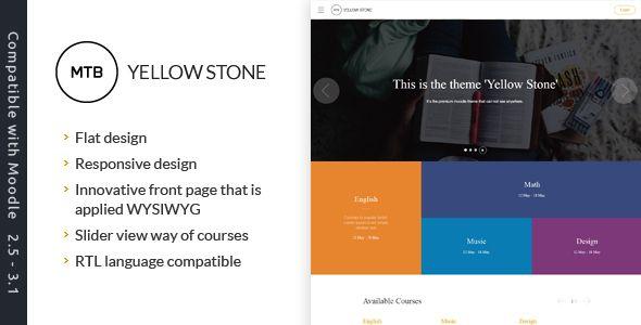 Yellowstone Premium Moodle Theme Website Templates