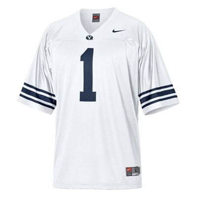 new product 8238e e305c BYU Cougars #1 Replica Football Jersey (White)   BYU Cougars ...