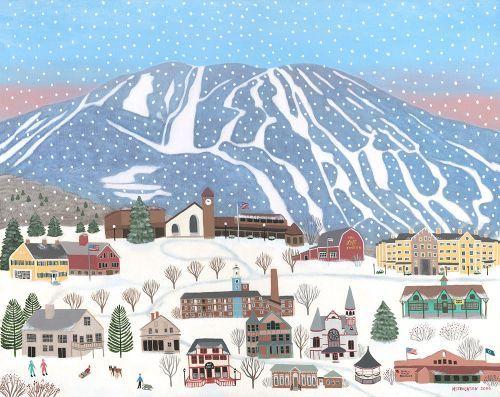 Okemo Mountain And Town Of Ludlow Vermont Ski Resorts Winter