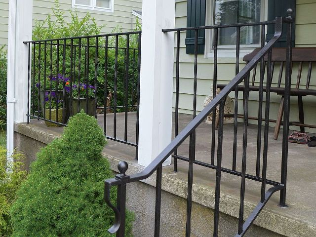 How To Update And Refinish Old Iron Rails Wrought Iron Porch