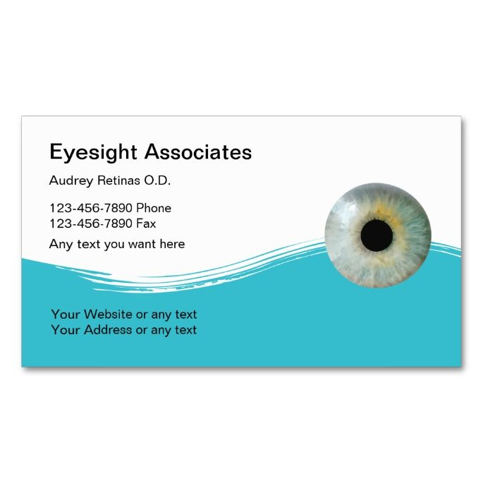 Optometrist Business Cards Business cards and Business - business card template for doctors