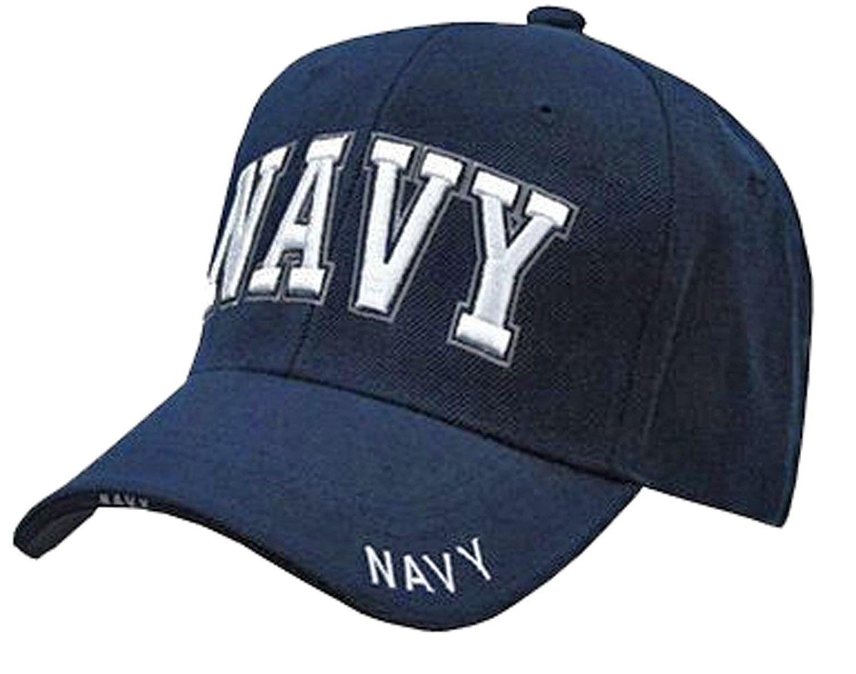 be13b61d1c9 U.S. Navy Veteran Baseball Cap Vet Military Mens One Size - Navy Blue NAVY  Hat 3D RD - CQ120PF1Q2R - Hats   Caps