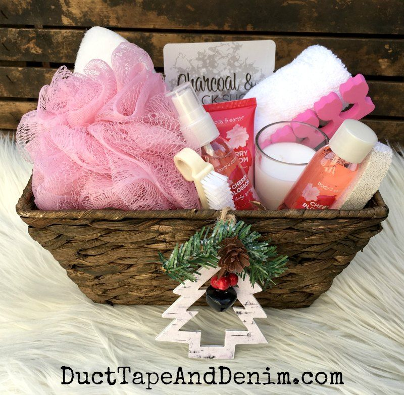 How To Make An Inexpensive Spa Basket For Coworker