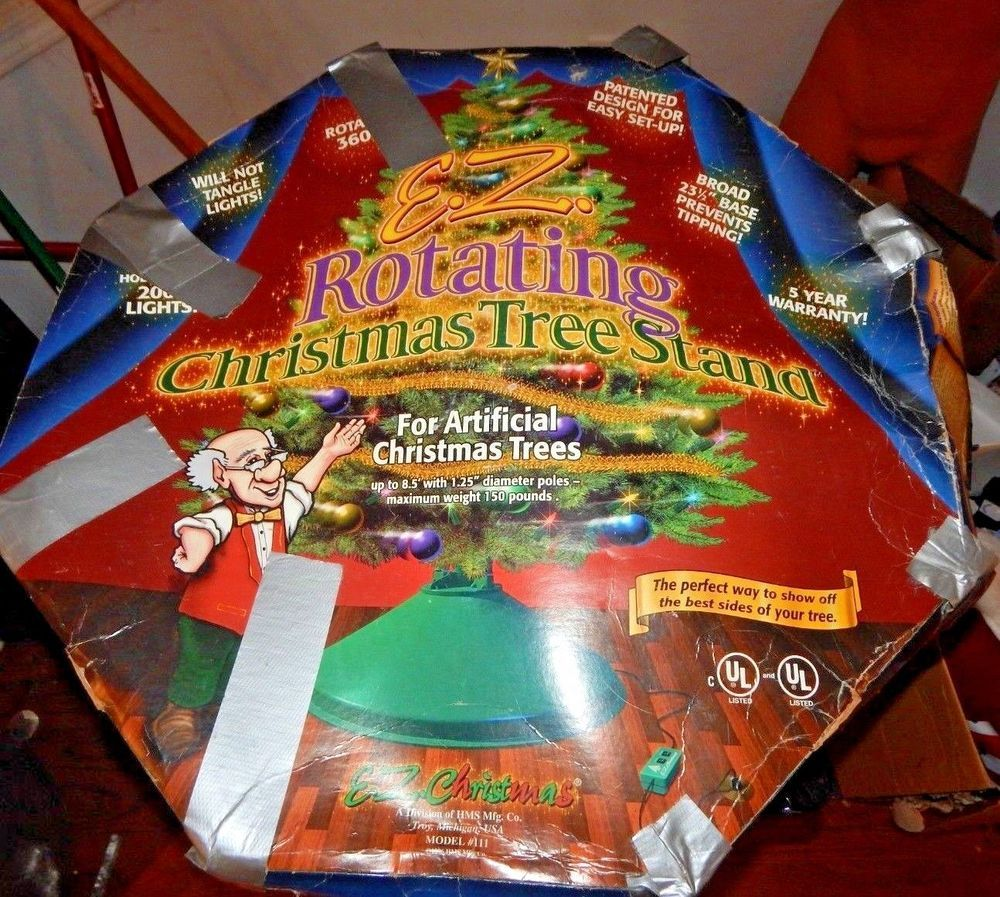 E Z Rotating Christmas Tree Stand Revolving 360 Tree Stand ...