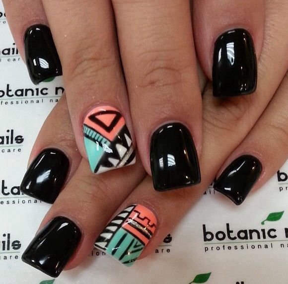 Wait Till You See These 44 Tribal Nail Art Patterns ... | Makeup ...