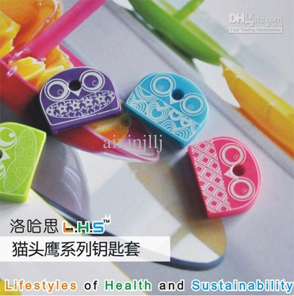 Wholesale Key Wallets - Buy Owl Style Key Cap Protective Sleeve Key Handle Handle Sets Rubber Sleeve 4 Pack, $0.8   DHgate