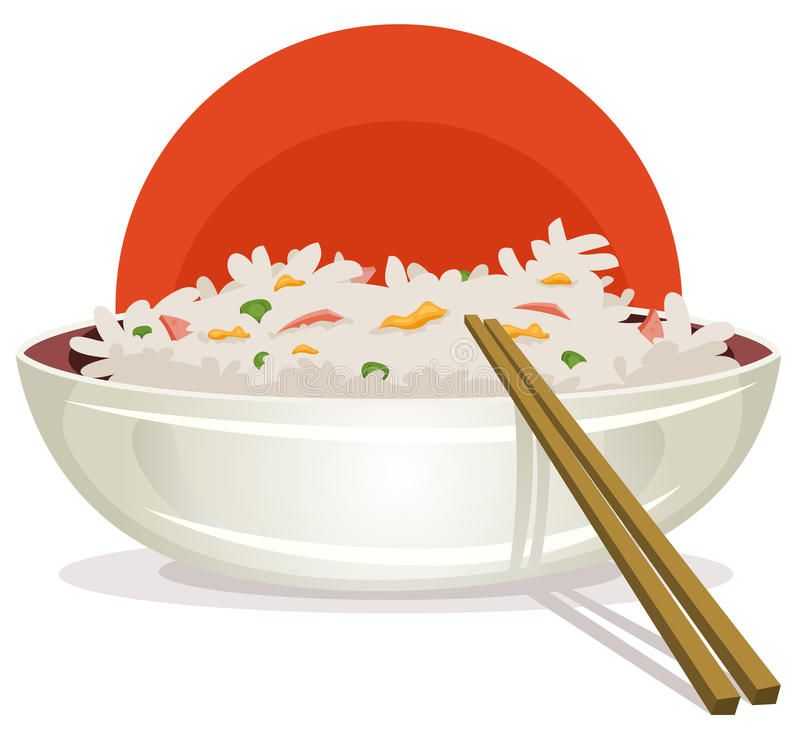 Fried Rice With Asian Chopsticks Illustration Of A Cartoon Plate Of Fried Rice Ad Plate Cartoon Rice Fri Fried Rice Asian Chopsticks Recipe Drawing