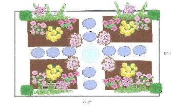 Image result for rose garden layout Roses Pinterest Gardens