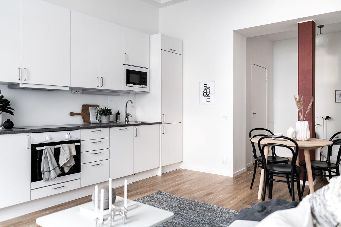 Design minimaliste pour la décoration de ce studio de 19m19