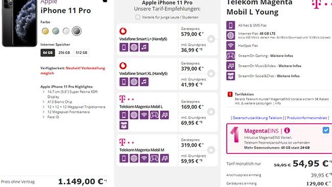 Telekom Magenta Mobil M M Young Mit Top Smartphone Fur 1 Handyvertrag Telekom Iphone