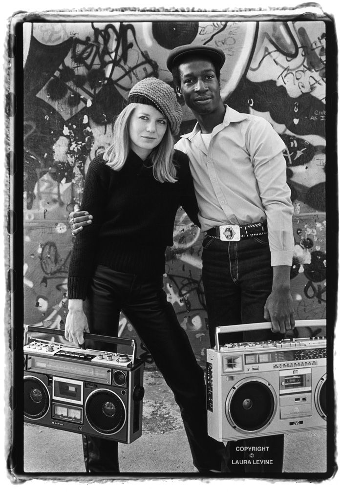 Tina Weymouth (Talking Heads) and Grandmaster Flash. Photo by Laura Levine