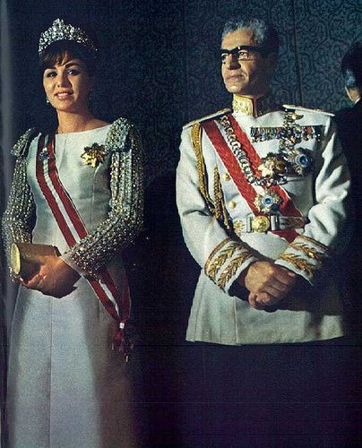 empress farah pahlavi and shah mohammad reza pahlavi of