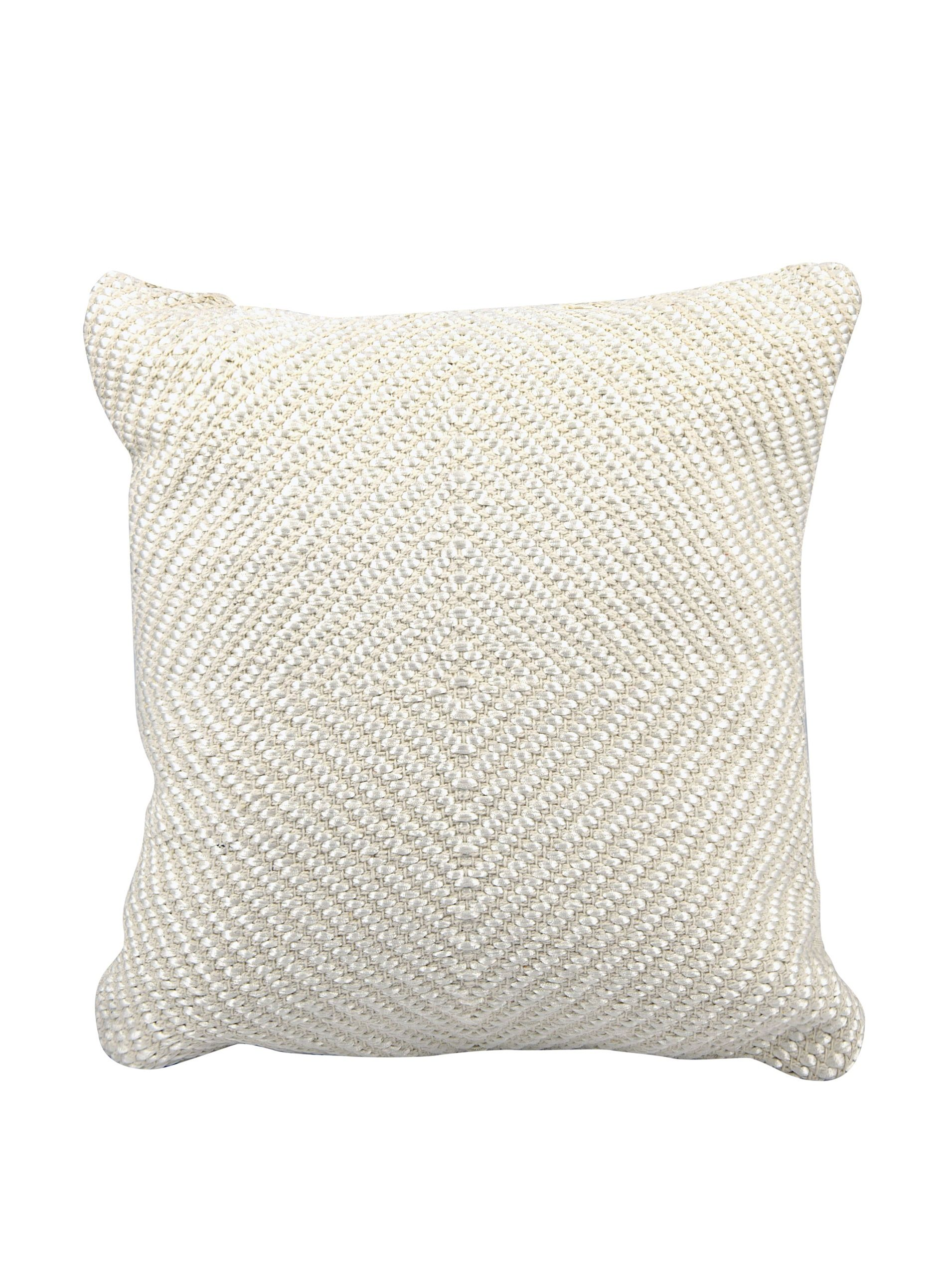 """Joseph Abboud Woven Luster Pillow, Ivory, 16"""" x 16"""" Add texture and pattern with this tonal design; features zipper closure with removable 100% polyester insert PillowHome #Bed"""