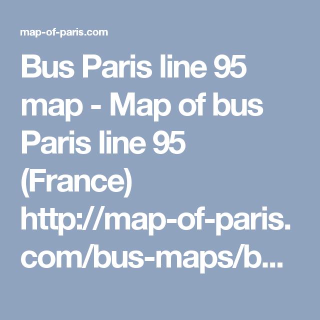 Bus Paris Line Map Map Of Bus Paris Line France Httpmap - Bus map paris france