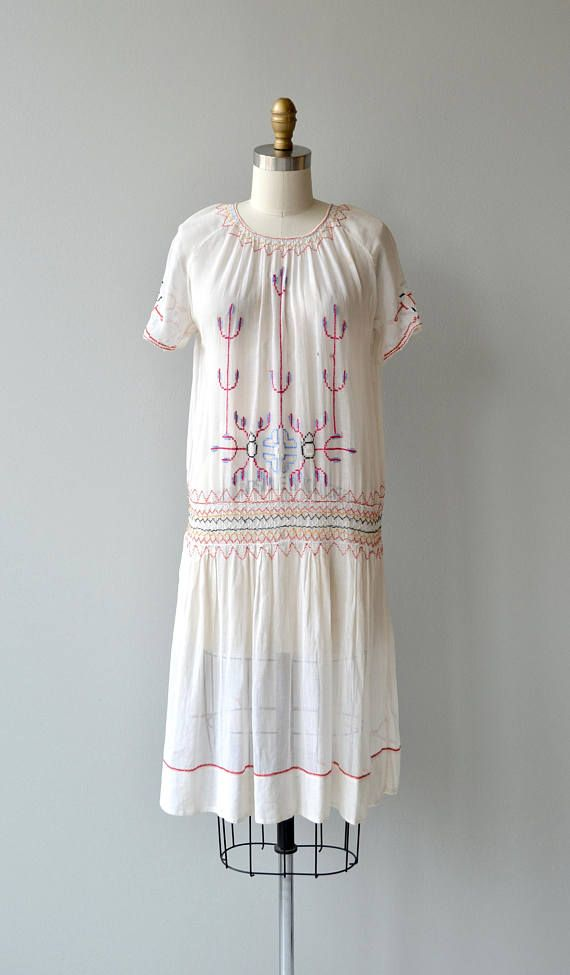 Little Bohemia dress | antique 1920s dress | vintage embroidered 20s ...