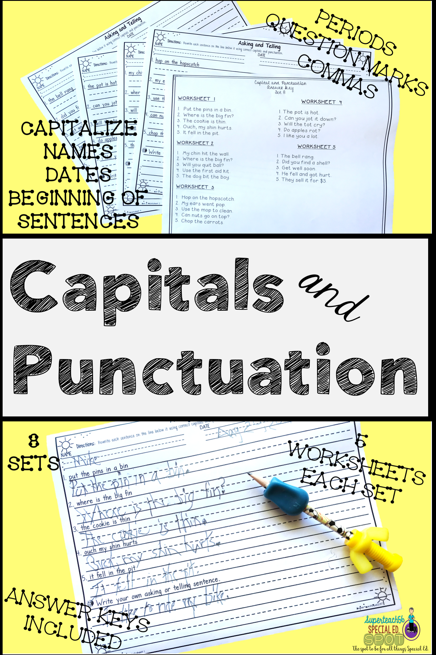 Core Curriculum Capitals And Punctuation Bundle
