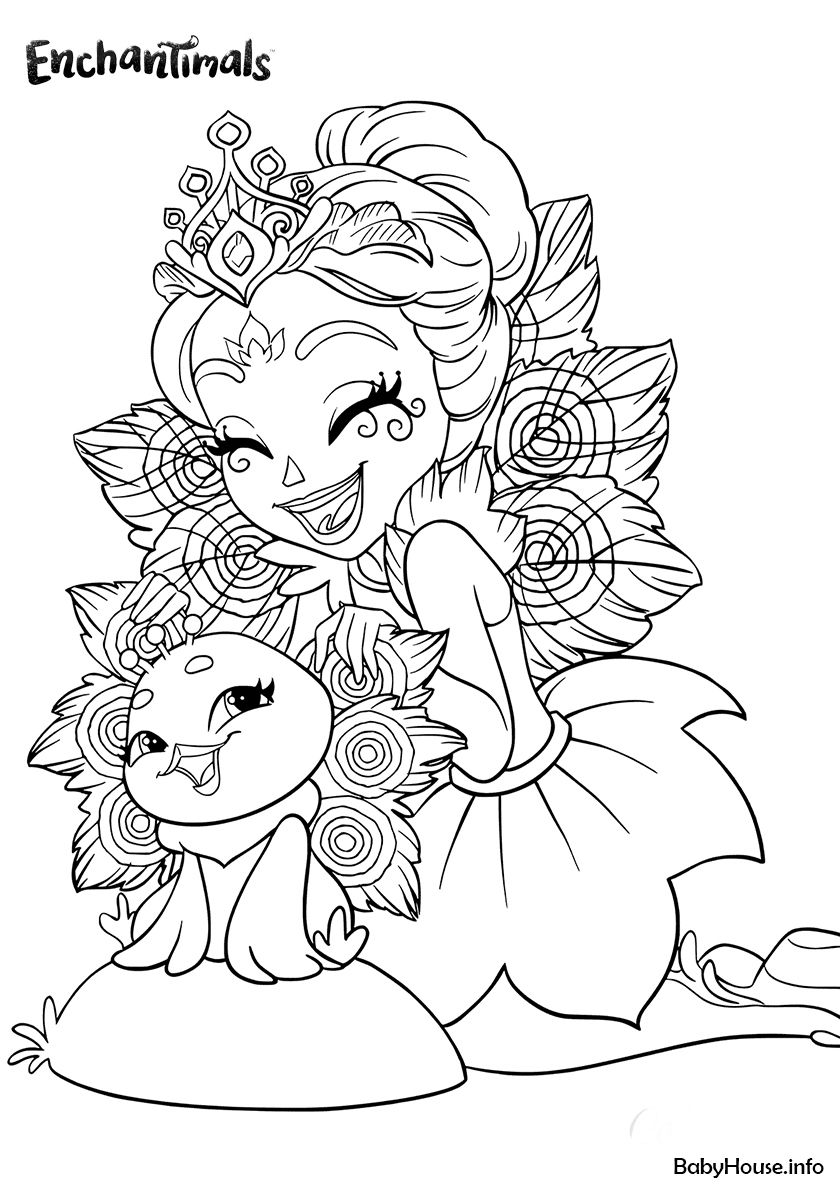 Patter Peacock And Flap High Quality Free Coloring From The Category Enchantimals More Pr Love Coloring Pages Monster Coloring Pages Cartoon Coloring Pages