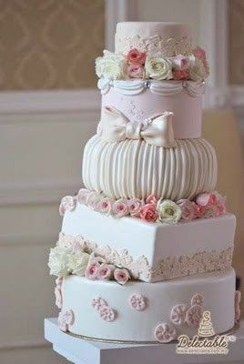 Really Beautiful Shabby Chic Wedding Cakes | Time for the Holidays ...