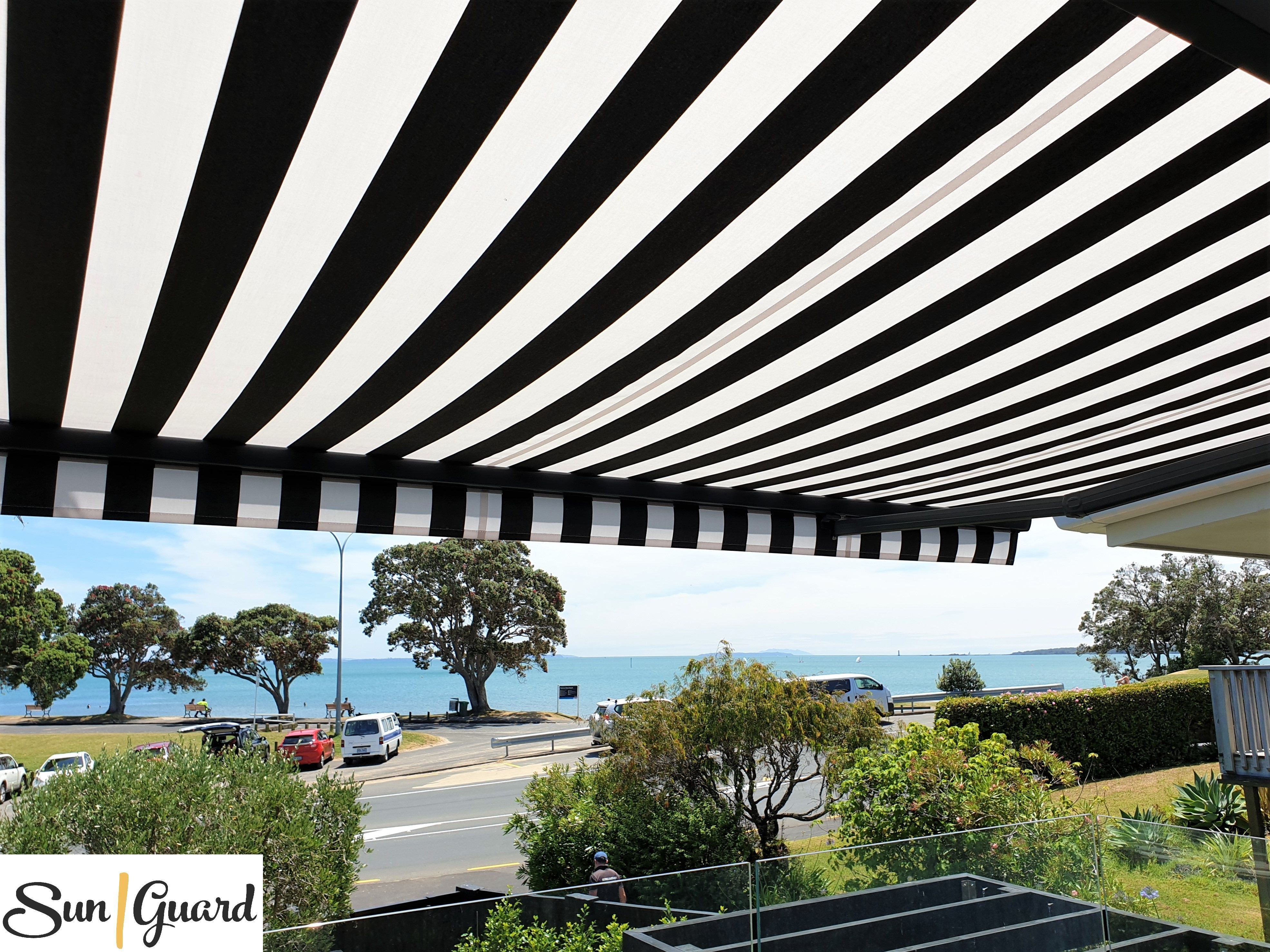 One Of Our Recent Projects Horizon Retractable Awning In Narrow Neck Auckland This Folding Arm Awning Provides Ro In 2020 Retractable Awning Awning Installation