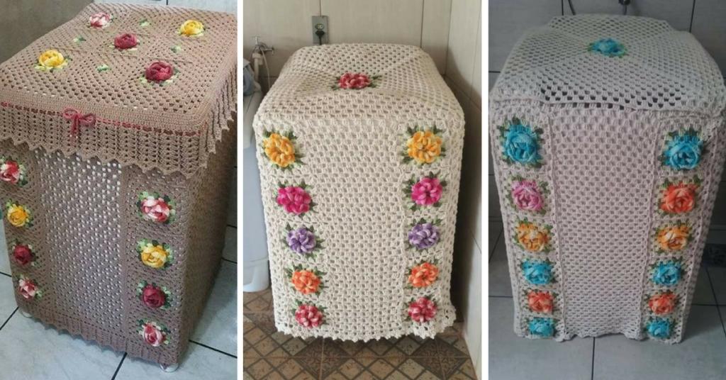 Regalo para mis crocheteras Hermosa funda para Lavadora a Crochet ...