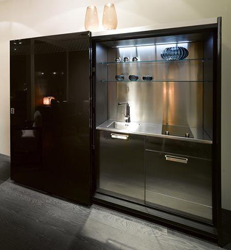 Peque as cocinas ocultas para oficinas de casa fendi for Modelos de oficinas pequenas