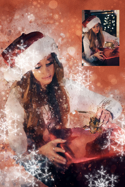 """Photoshop-Aktion """"Weihnachten – Winteraquarell"""": ein Kristallfunkeln für deine Fotos Für welche Zwecke du die """"#Weihnachten – anwendest, bleibt natürlich voll und ganz dir überlassen. Hier ein paar Ideen: Versieh die Fotos deiner Liebsten mit dem und menge sie als augenschmeichelnde Beigabe unter die Kreiere auf Basis der Bilder weihnachtliche oder gestalte damit zur anstehenden"""