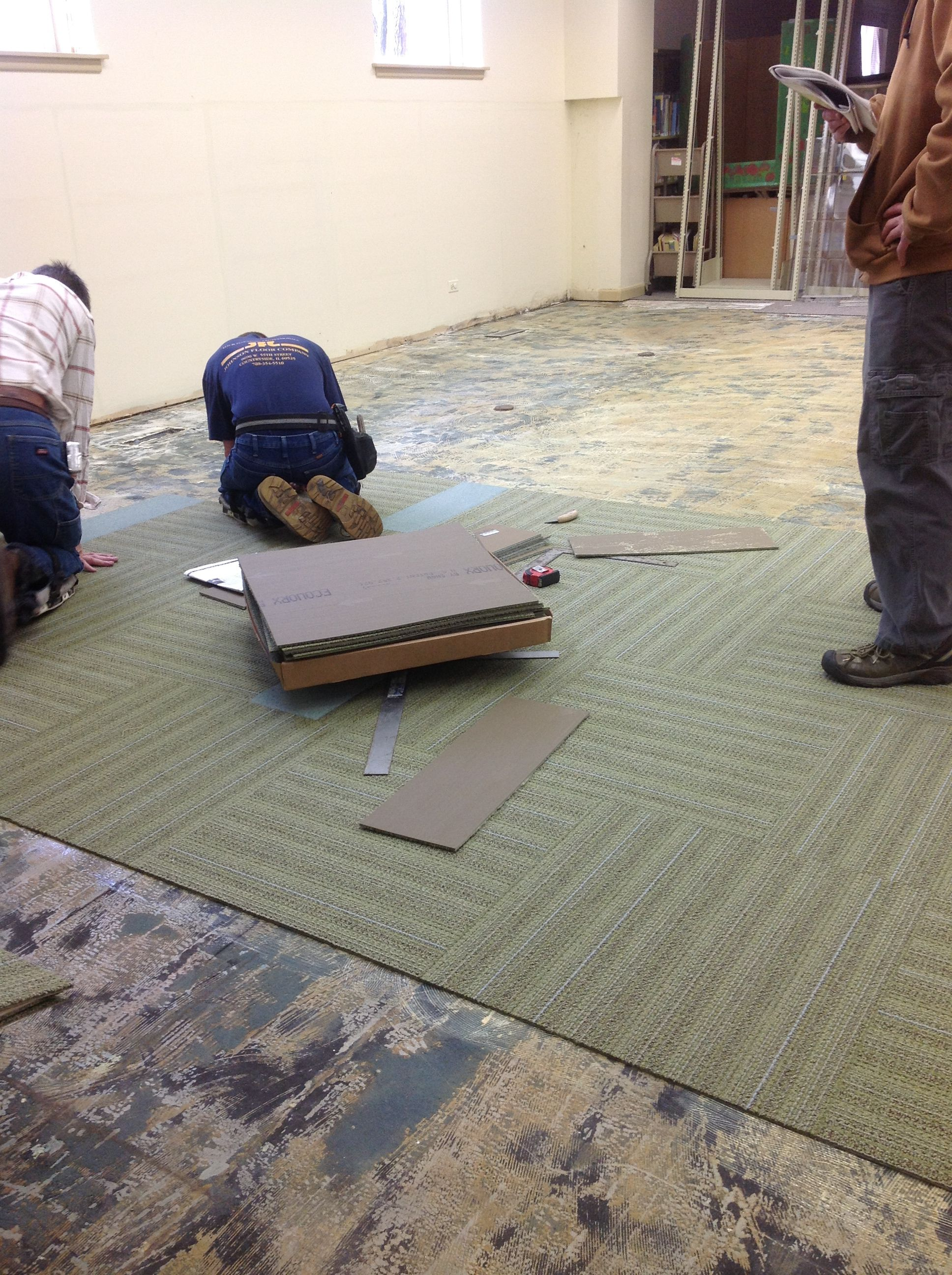 50 Laying Down The New Carpet In The Children39s