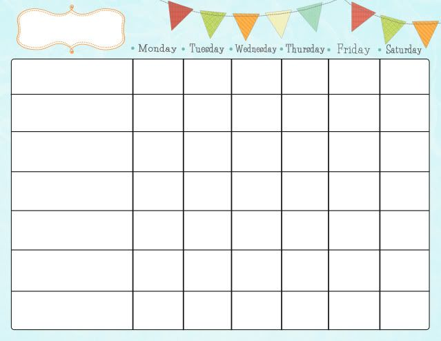 free downloadable chore charts