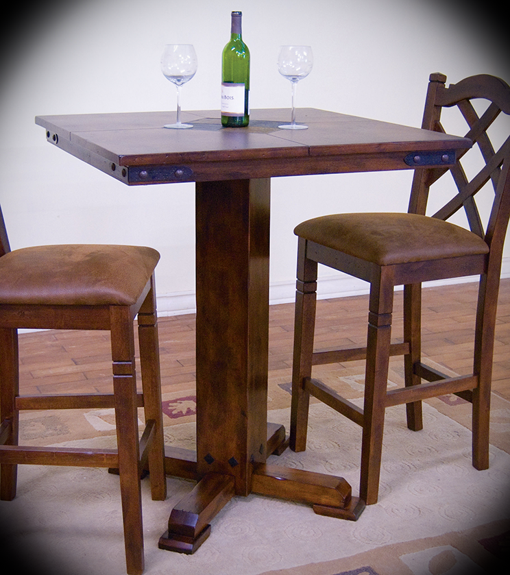 Pub Table W Slate Santa Fe Dark Chocolate Width 36 Height 42 Depth This Top Adds Personality To Any Dining Or Entertaining E