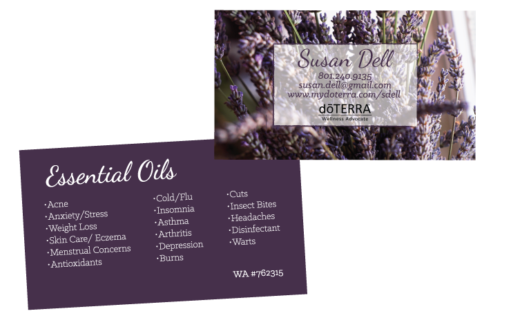 Lavender theme doterra business card for wellness advocates lavender theme doterra business card for wellness advocates wajeb Images