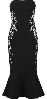 630703f399f1 Cinq à Sept Luna Strapless Embroidered Faille Midi Dress | Products ...