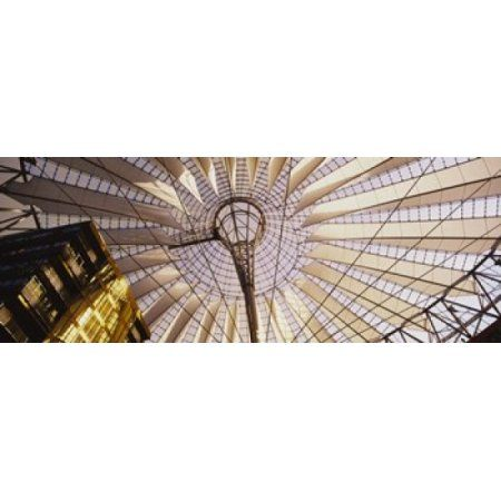 Low angle view of the roof of a building Sony Center Berlin Germany Canvas Art - Panoramic Images (30 x 12)