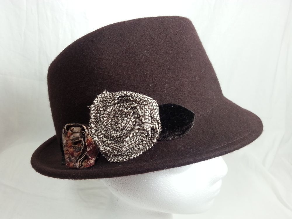 Sonoma Life Style By Kohl s Ladies Fedora Short Brim Hat Brown Wool New  With Tag  SonomaLifeStylebyKohls  FedoraTrilby  Casual a3c296b8239
