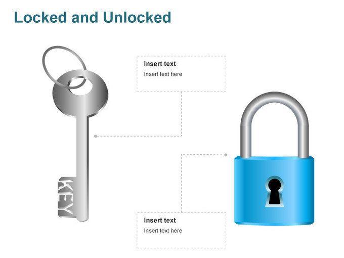 Editable powerpoint template locked and unlocked illustrations editable powerpoint template locked and unlocked toneelgroepblik Choice Image