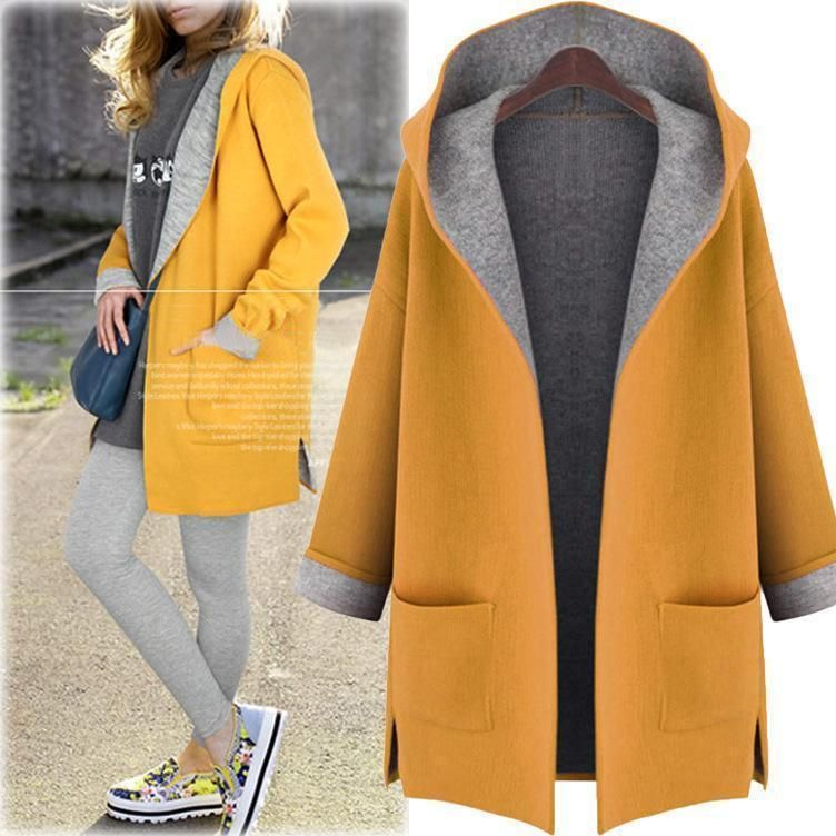 Mstyle Men Relaxed Fit Zip Up Hoodie Plus Size Washed Casual Trench Coat Jacket Overcoat