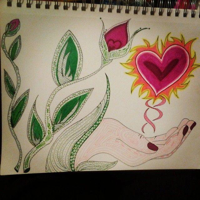 #art #artwork #love #heartonfire #loveonfire