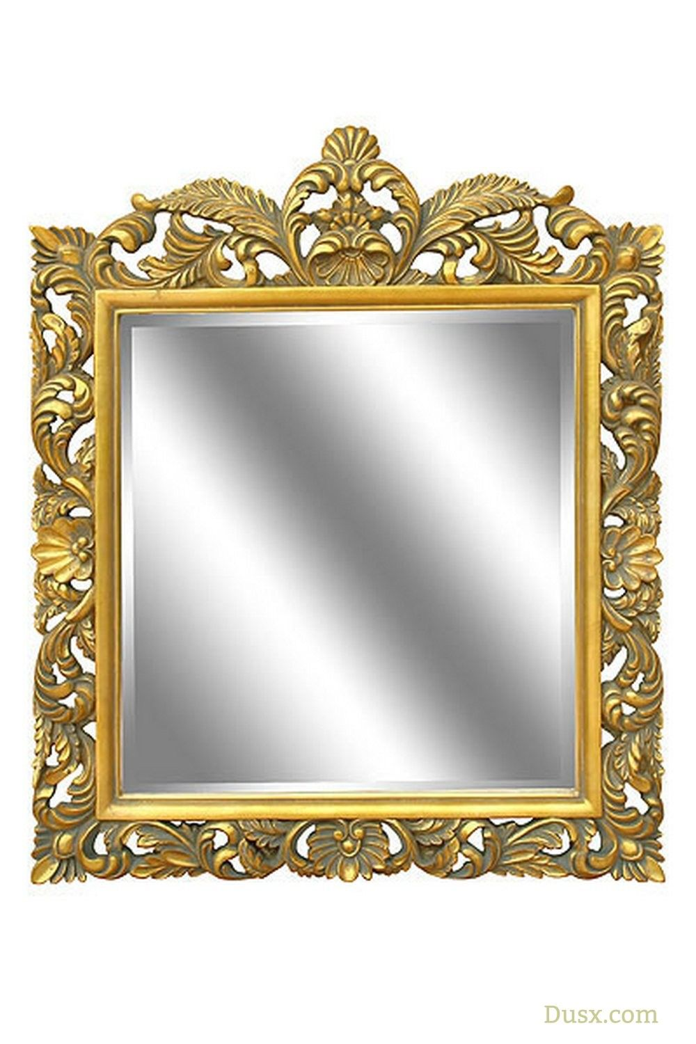 This Fabulous Square Mirror From Our Baroque Collection Featured Deeply Bevelled Glass An Antiqued Gold Handpai Baroque Frames Square Mirror Mirror Wall Decor