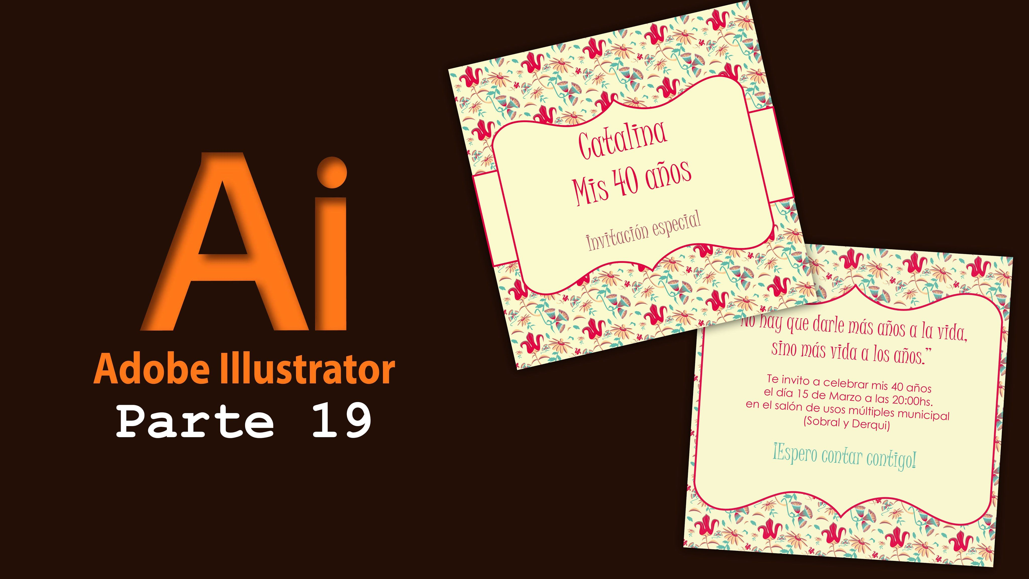 Adobe Illustrator 19 Crear Tarjeta De Invitación Tarjetas