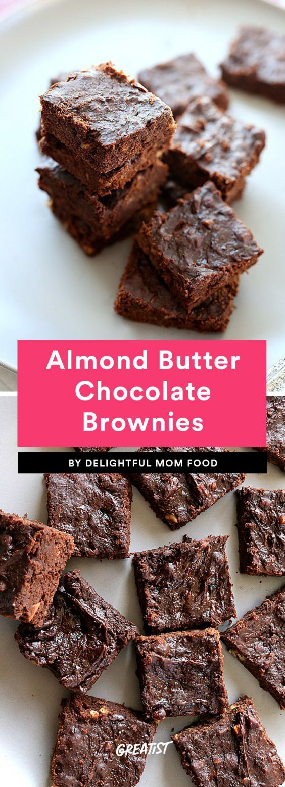 Almond Butter Chocolate Brownies  The best part of these rich, crunchy brownies? Since they're made with bananas, almond butter, and cocoa powder, you don't have to feel the tiniest bit guilty eating brownies for breakfast. Because sometimes, it's just that kind of day.