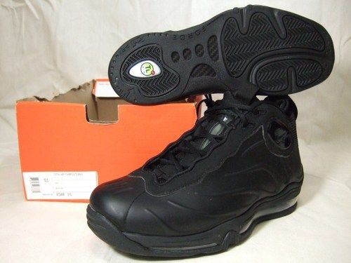 308c12bdc37 Nike Total Air Foamposite Max Black Tim Duncan 472498-010 Mens New Sz 10.5
