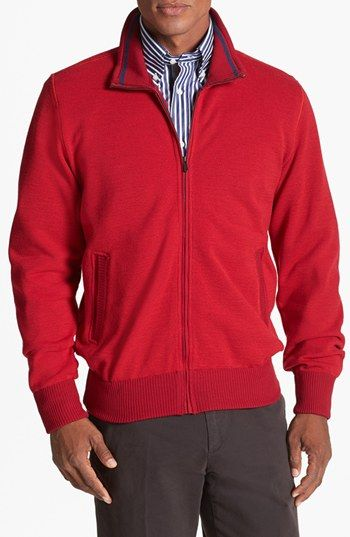 c8d603425f16 Paul   Shark Full Zip Piqué Wool Sweatshirt available at  Nordstrom ...
