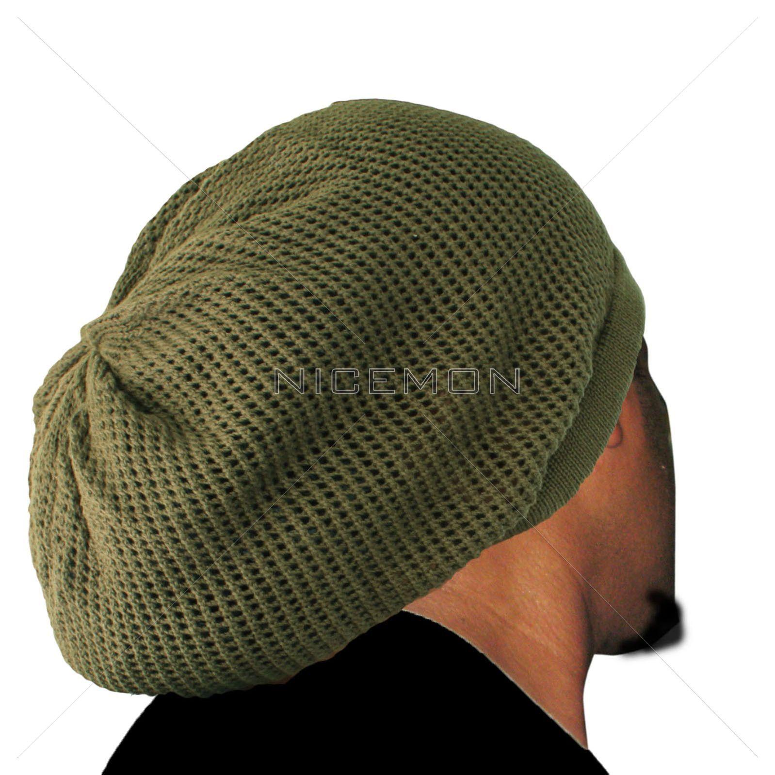 82ab8688b 100% Cotton Mesh Nattydread Rasta Cap Hat Tam Bonet Roots Reggae ...
