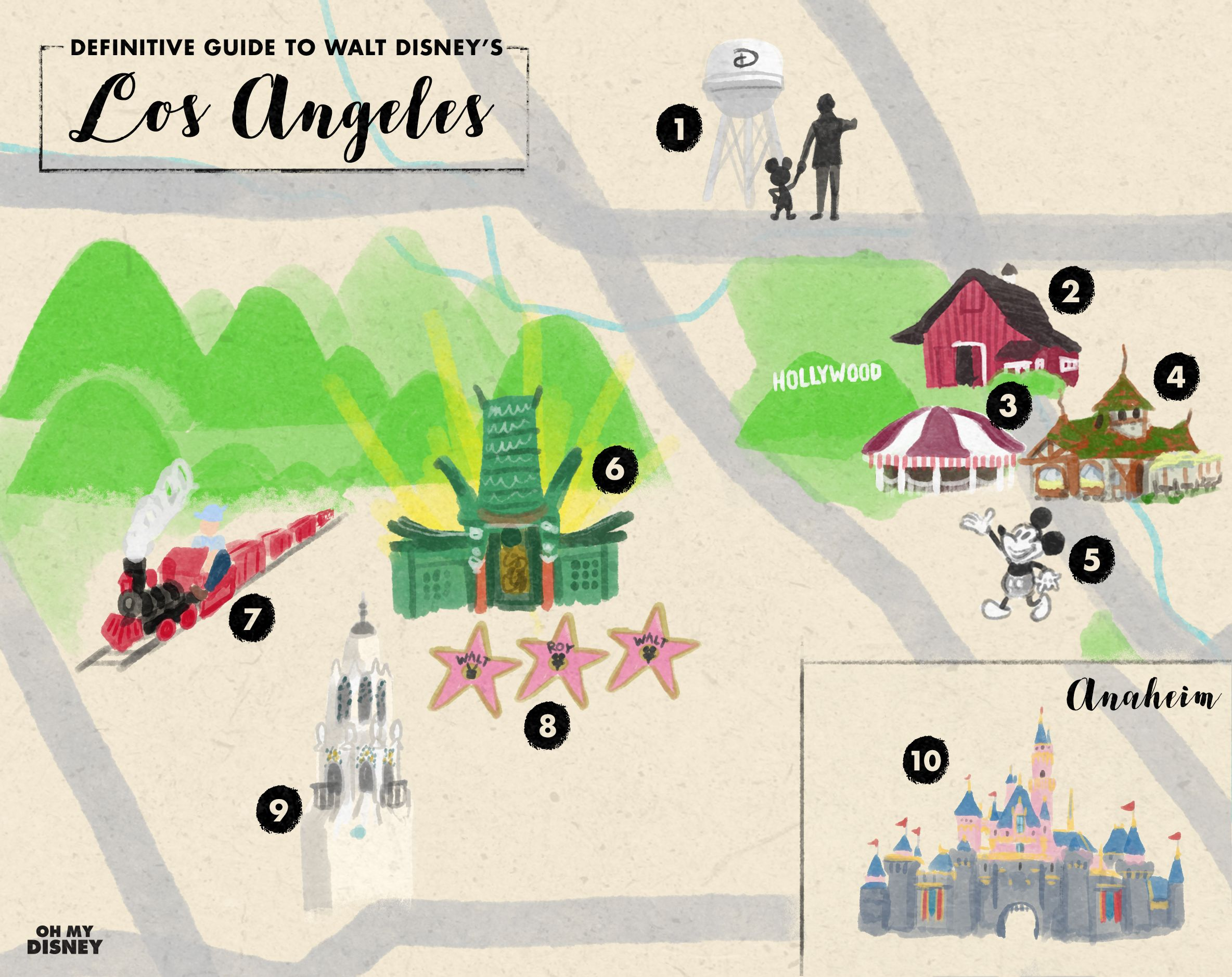 Disney Los Angeles Map.The Definitive Guide To Walt Disney S Los Angeles Disney