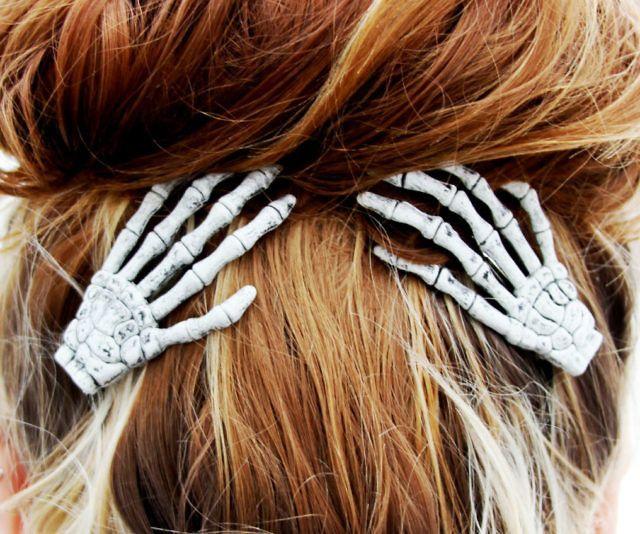 Skeleton Hand Hair Clips Halloween Hair Hair Clips Crazy Hair Days