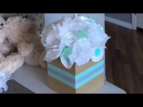 Lista de materiales para esté centro de mesa - YouTube Diaper Cake - centros de mesa para baby shower